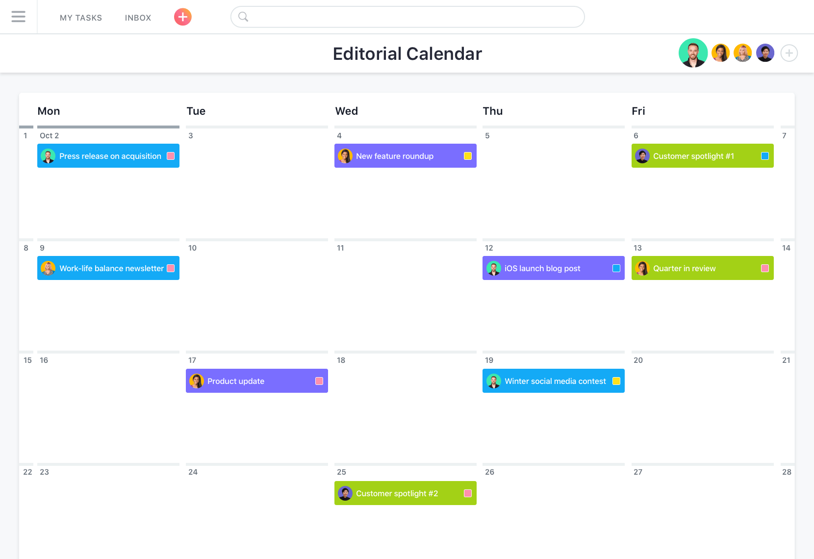 Simple Project Planning Tool For Work · Asana To Project Timeline Planner