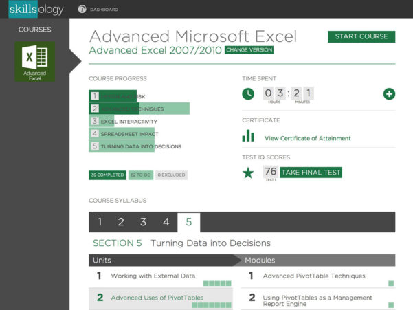 Skillsology | Advanced Excel Within Excel Spreadsheet Course