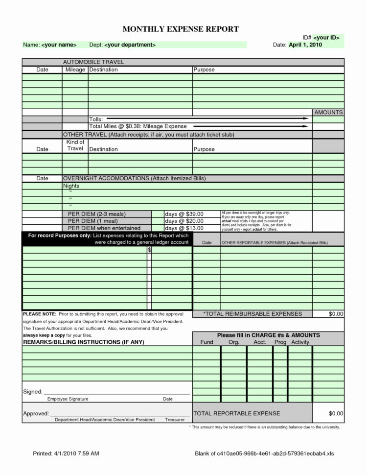 Small Business Expense Report Template Excel Elegant 50 Fresh Free Inside Business Expenses Report Template Excel