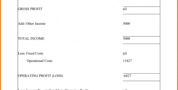 Small Business Income Statement Template Profit And Loss For Self In Income Statement Template For Small Business Income Statement Template For Small Business Business Spreadsheet