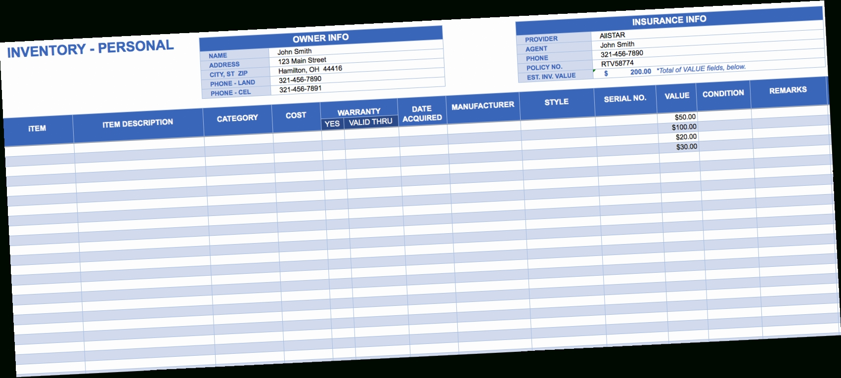 Small Business Inventory Spreadsheet Template Ds3O Free Excel In Excel Inventory Spreadsheet Template