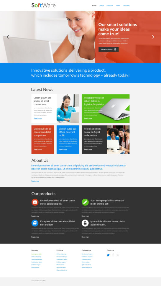 Software Company Responsive Website Template #51277 And Company Templates
