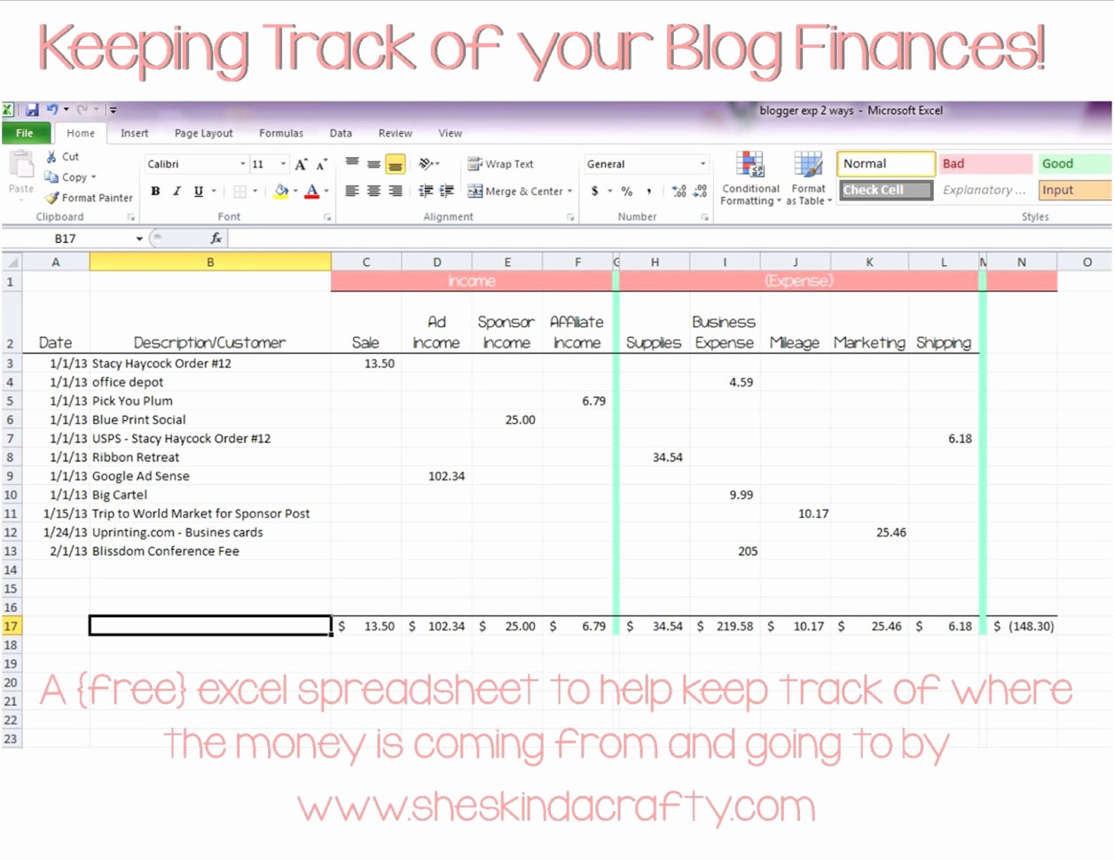 Spreadsheet Business Expenses Form Template Example Of Excel Save In How To Track Expenses In Excel