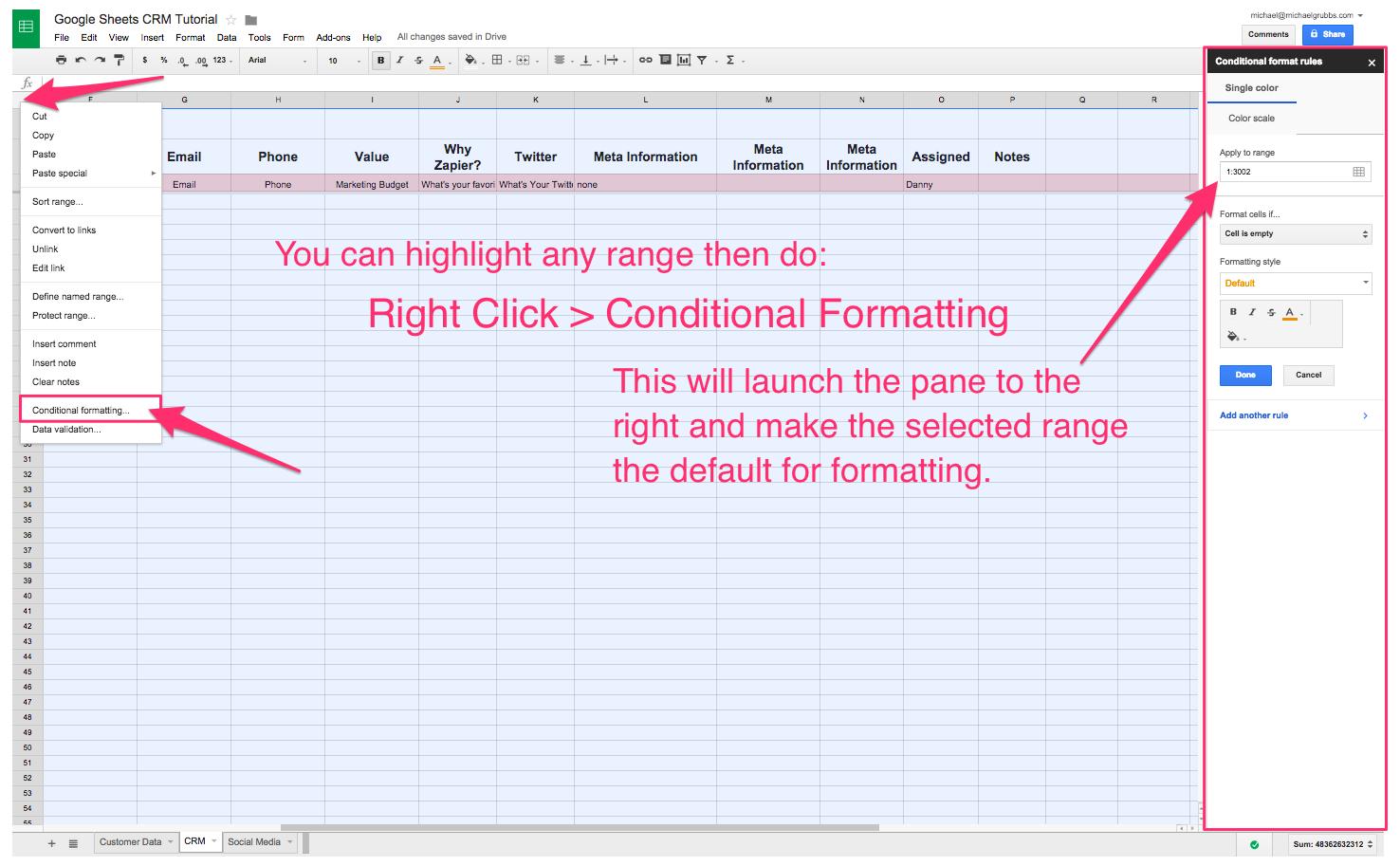 Spreadsheet Crm: How To Create A Customizable Crm With Google Sheets With How To Create A Sales Tracking Spreadsheet