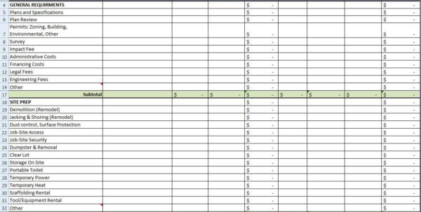 Spreadsheet Example Of House Building Costting Sheet Template With House Building Cost Spreadsheet