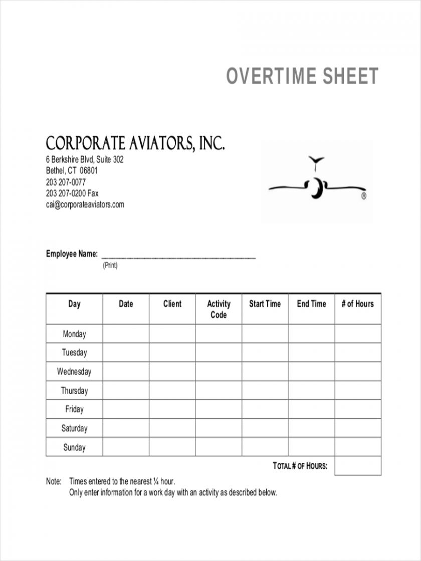 Spreadsheet Example Of Time Clock Staff Overtime Sheet1 Examples Within Time Clock Spreadsheet Template