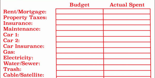 Spreadsheet Monthly Budget Sheet Template Excel Best S Of Free Bud With Spreadsheet For A Budget