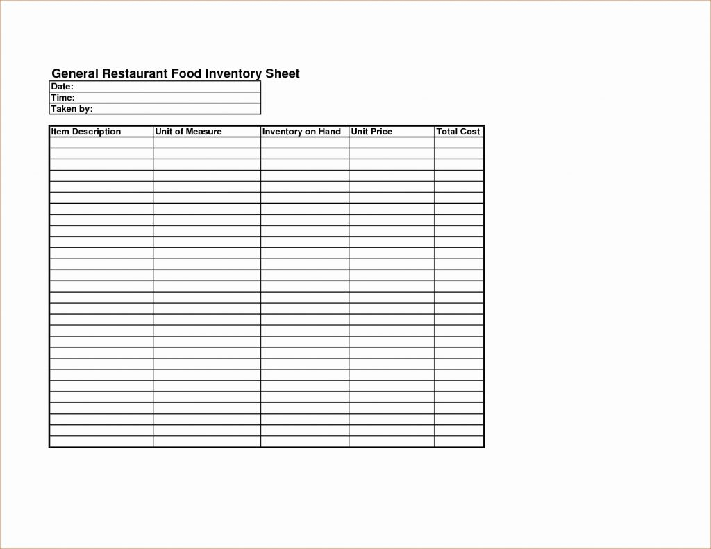 Spreadsheet Restaurant Kitchen Inventory Template Fresh Food Throughout Kitchen Inventory Spreadsheet