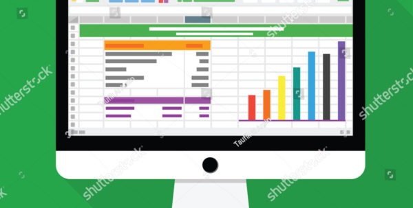 Spreadsheet Software Computer Screen Financial Accounting Stock With Business Spreadsheet Software