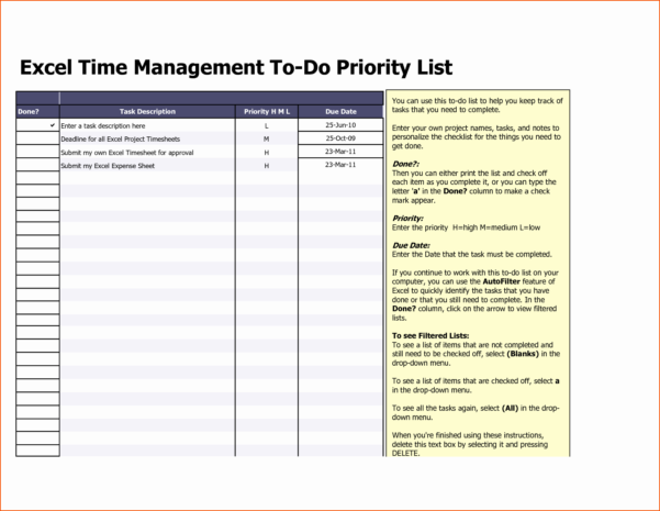 Spreadsheet Software Examples Unique Project Management Task List Intended For Task Management Spreadsheet