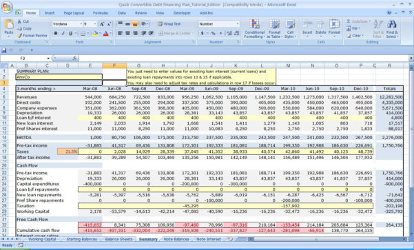 Spreadsheetamples Financial Planning For Startups Plan Startup Throughout Business Plan Spreadsheet Template Free