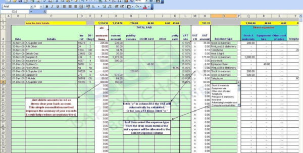 Spreadsheets For Small Business Bookkeeping | Greenpointer In Free With Free Accounting Spreadsheet Templates