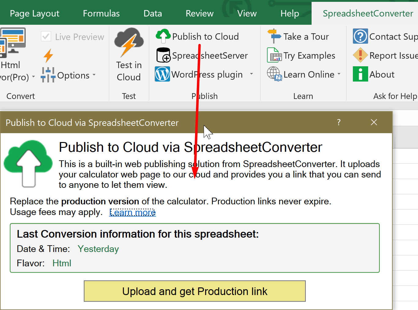 Ssc Ribbon Publish To Cloud Import Excel Spreadsheets And Charts In With Spreadsheet Cloud