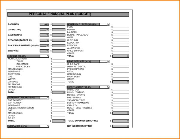 Startup Financial Plan Template Excel For Business Pdf Planning Within Business Plan Financial Template
