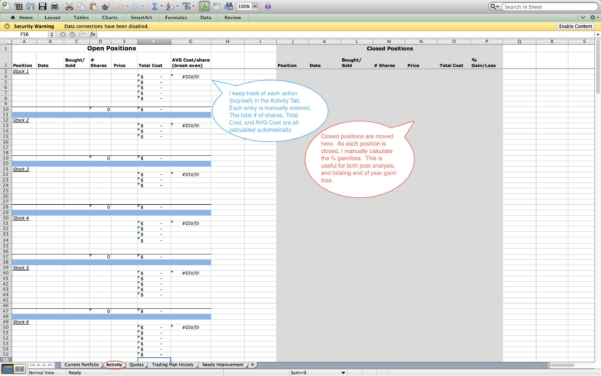 Stock Option Spreadsheet Templates   Awal Mula To Options Trading Spreadsheet