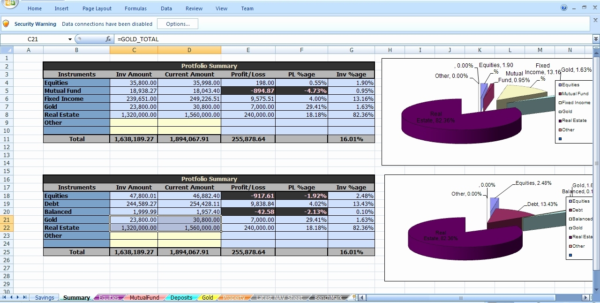 Stock Portfolio Tracking Excel Spreadsheet Beautiful Investment To Portfolio Tracking Spreadsheet