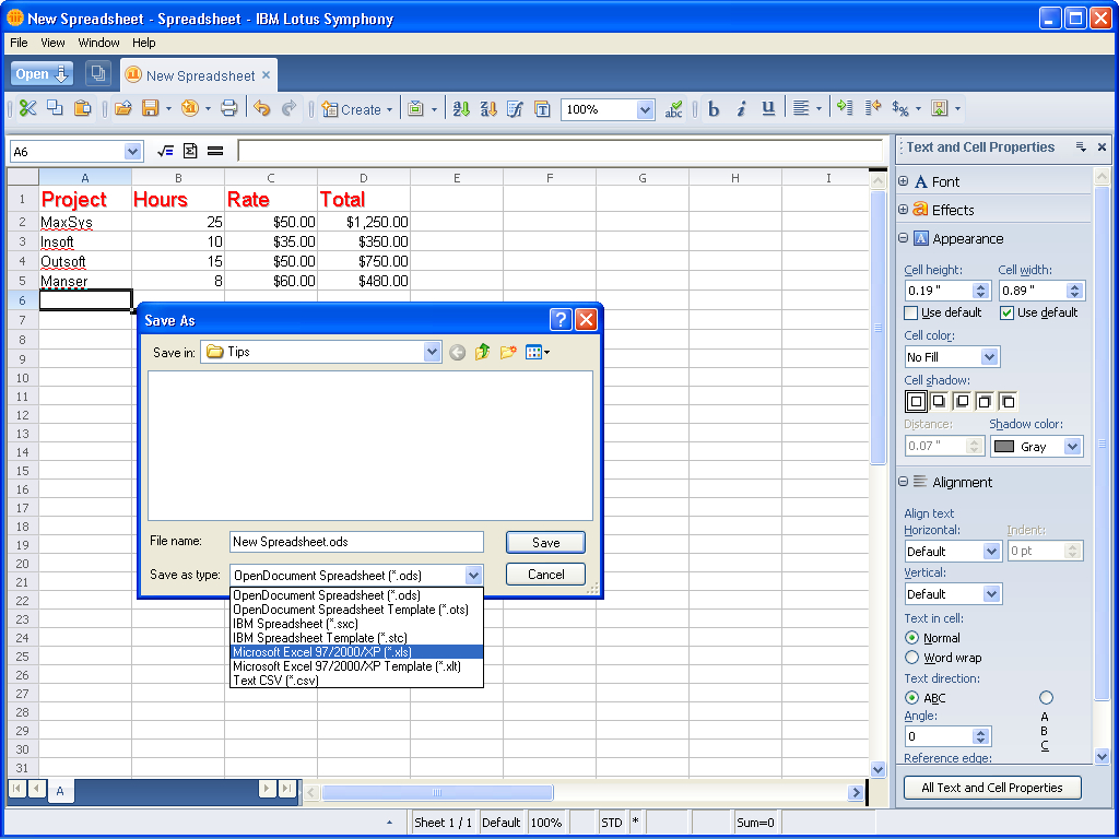 Taking A Look At Ibm Lotus Symphony Spreadsheets   Page 5   Techrepublic With Lotus Spreadsheet Download