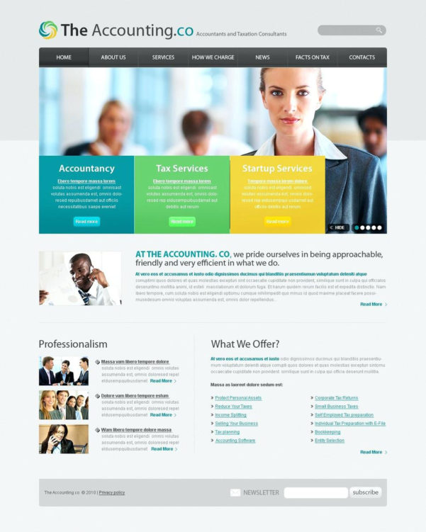 Tax Consultant Website Template Accounting Website Website Template To Accounting Website Templates Free Download