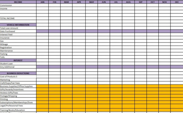 Taxes Excel Spreadsheet Functional – Theglacierweb To Business Expenses Spreadsheet For Taxes