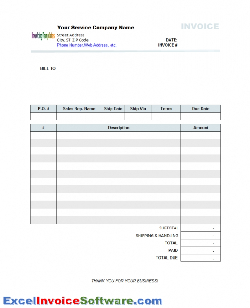 Template Free General Labor Invoice Template Excel Pdf Word Doc To General Labor Invoice