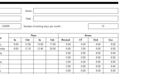 Template: Time Clock Sheet Template Simple Spreadsheet For. Time Intended For Time Clock Spreadsheet