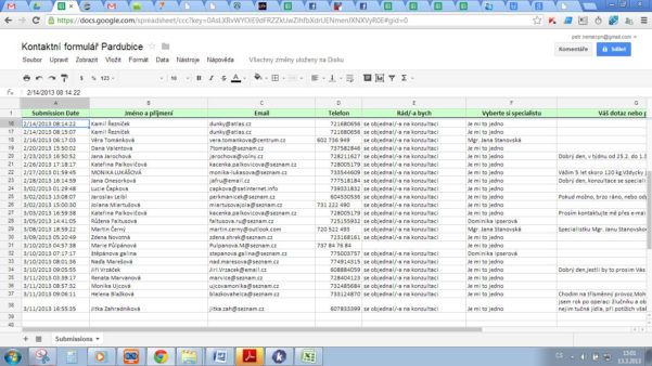 The Integration With Google Spreadsheets Does Not Work Properly In Spreadsheet Forms