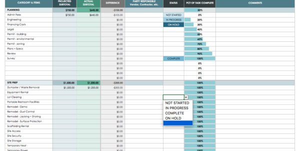The Master Guide To Construction Bidding | Smartsheet In Home Construction Estimating Spreadsheet