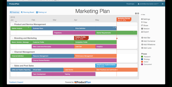 Three Example Marketing Roadmaps Throughout Marketing Campaign Tracking Spreadsheet