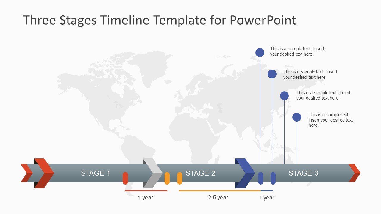 Three Stages Timeline Template For Powerpoint - Slidemodel intended for Project Management Timeline Template Powerpoint
