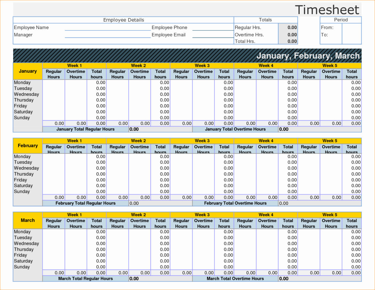 Time Keeping Spreadsheet | My Spreadsheet Templates Throughout Employee Time Tracking Excel Template