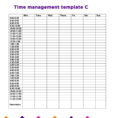 Time Management How To Manage Time | Time Management Tips For Time In Time Management Charts Templates