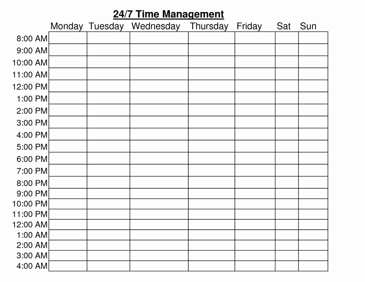 Time Management Sheet Pdf Legal 20 Elegant Rotating Schedule And Time Management Sheets Template