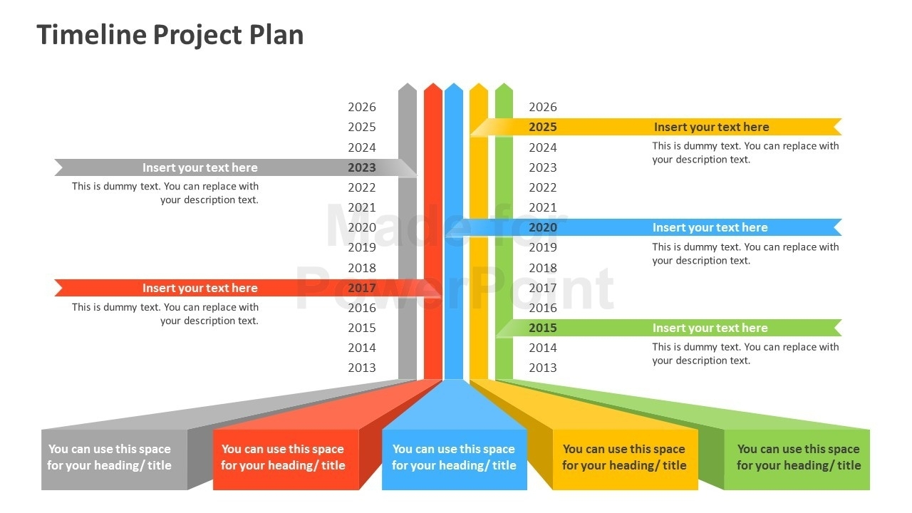 Timeline Project Plan Powerpoint Template In Project Timeline Within Project Planning Timeline Template