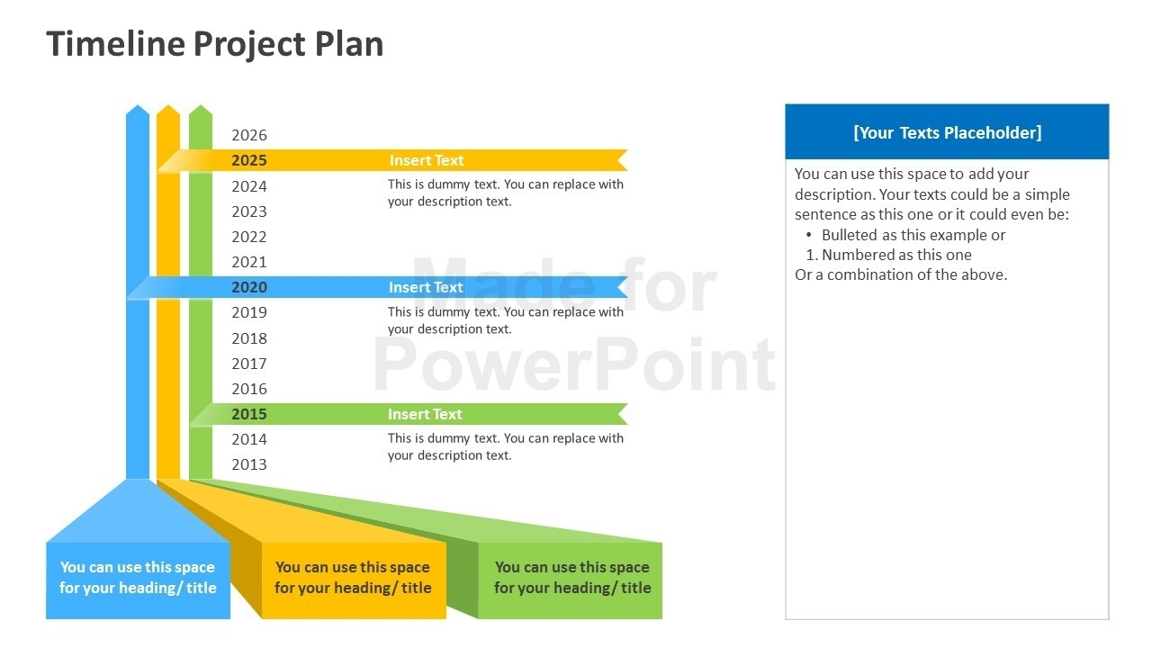 Timeline Project Plan Powerpoint Template With Project Planning In Project Plan Timeline Template Free