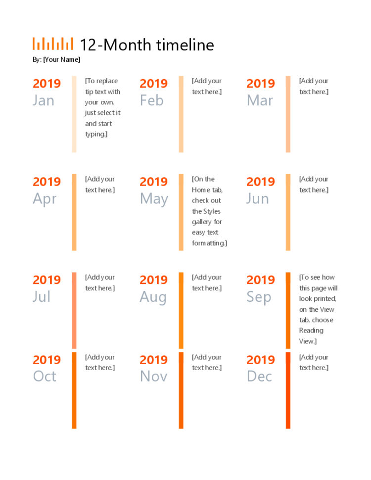 Timelines   Office In Project Timeline Template Ppt Free