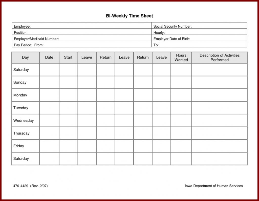 Timesheet Template Example Of Time Clock Spreadsheet Free Card Within Time Clock Sheet Template
