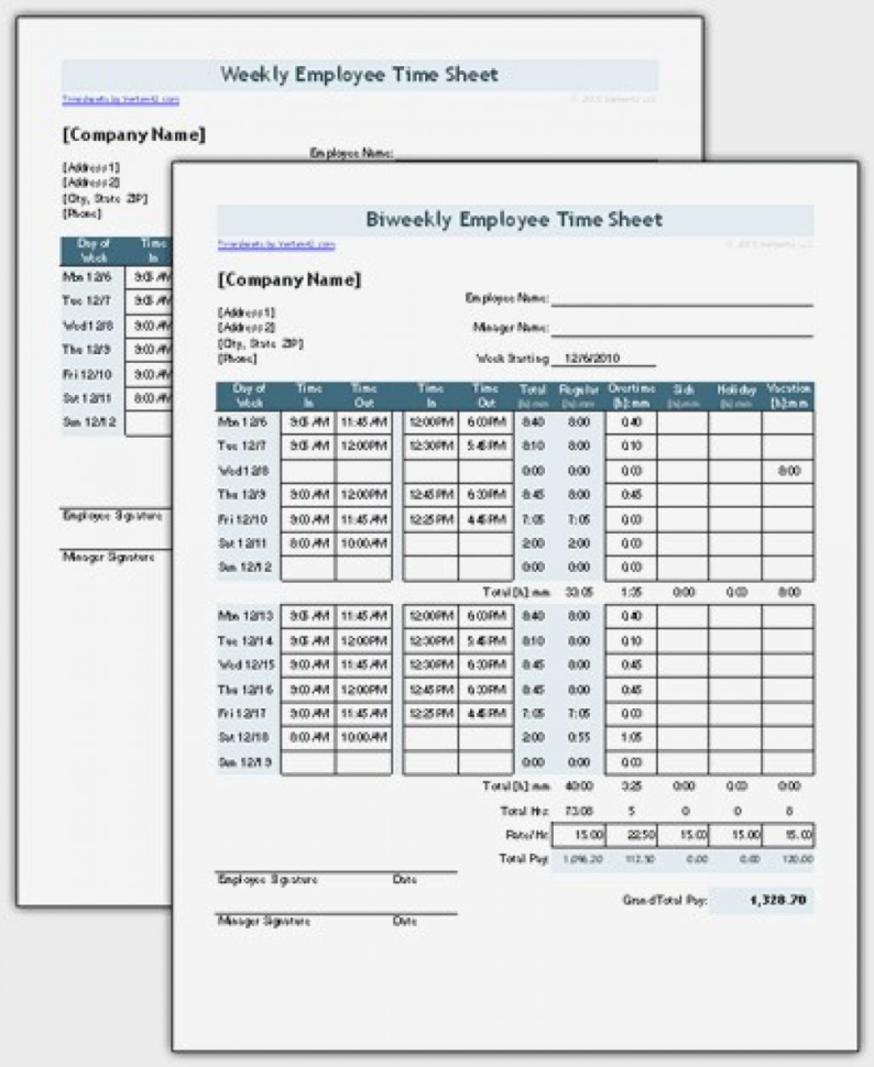 Timesheet With Multiple Breaks Time Tracking Template Entire Throughout Employee Time Tracking Template