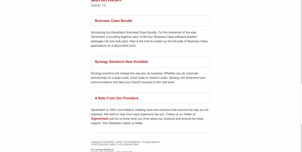 Top 25 Free & Paid Mailchimp Email Templates 2018   Colorlib And Business Applications Template