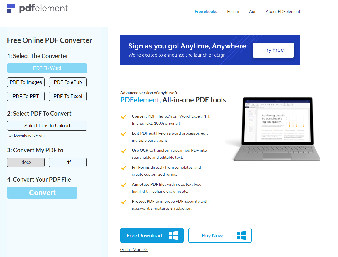 Top 8 Online And Desktop Pdf To Excel Converters | Wondershare To Convert Pdf To Excel Spreadsheet