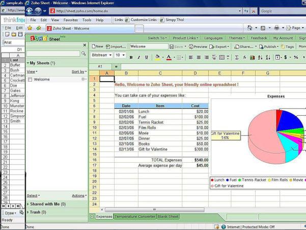 Top Free Online Spreadsheet Software In Software Spreadsheet
