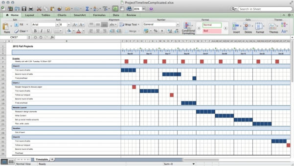 Track Projects In Excel Like A Ninja – Paper Raven Books Within In To Keeping Track Of Projects Spreadsheet