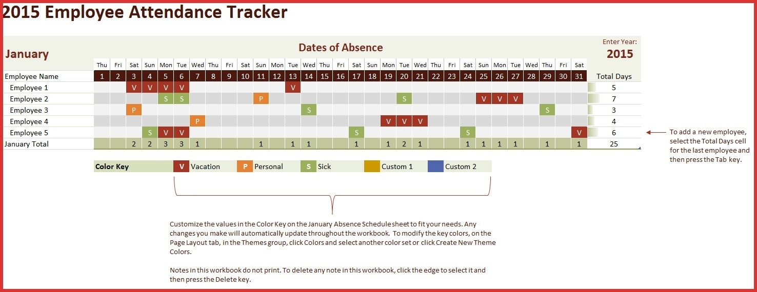 Tracking Spreadsheet Page 7 Employee Attendance Tracking Spreadsheet For Attendancetracking Spreadsheet Template