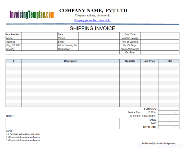 Transportation Invoice Inside Trucking Invoice Template