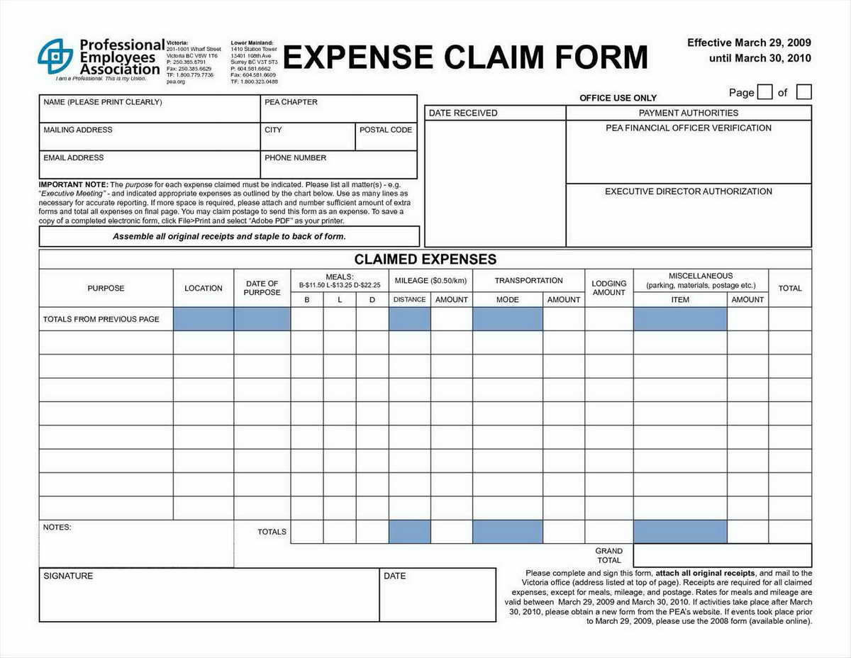 Travel Expense Form Template Excel #c7Bd1E7B0C50 - Proshredelite With Business Expenses Claim Form Template