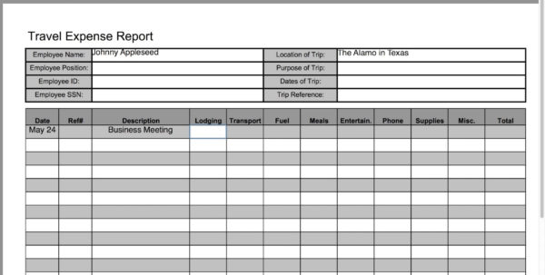 Travel Expense Form Template Excel #c7Bd1E7B0C50   Proshredelite Within Business Trip Expenses Template Business Trip Expenses Template Business Spreadsheet