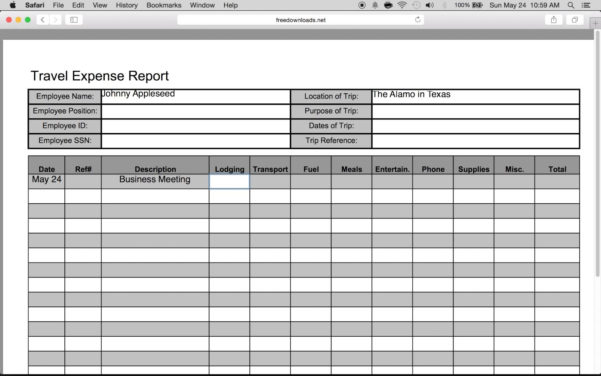 Travel Expense Form Template Excel #c7Bd1E7B0C50   Proshredelite Within Business Trip Expenses Template