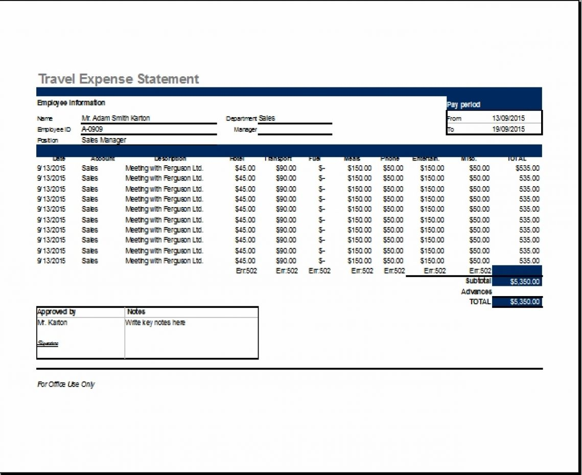Travel Expense Form Template Report Simple For Excel – Theglacierweb In Simple Expense Form