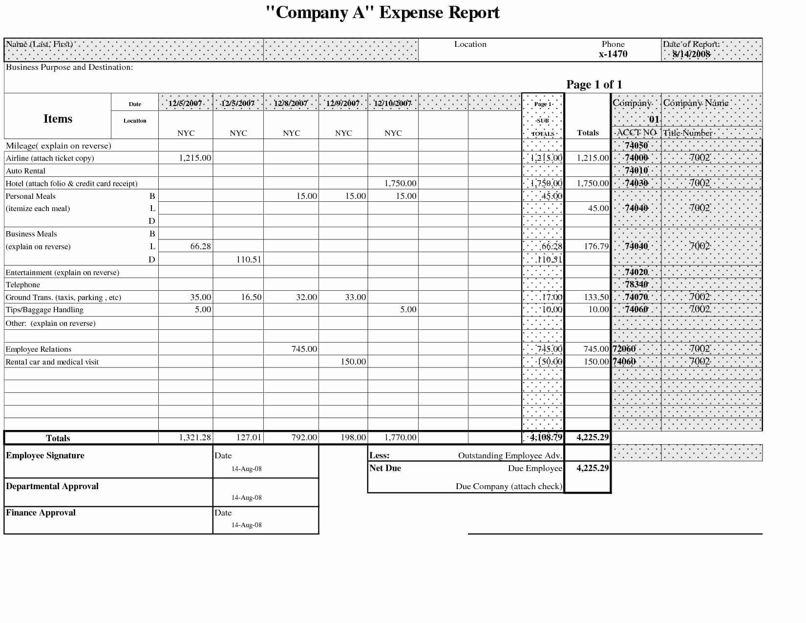 Travel Expense Report Template Excel   Durun.ugrasgrup With Business Travel Expense Report Template