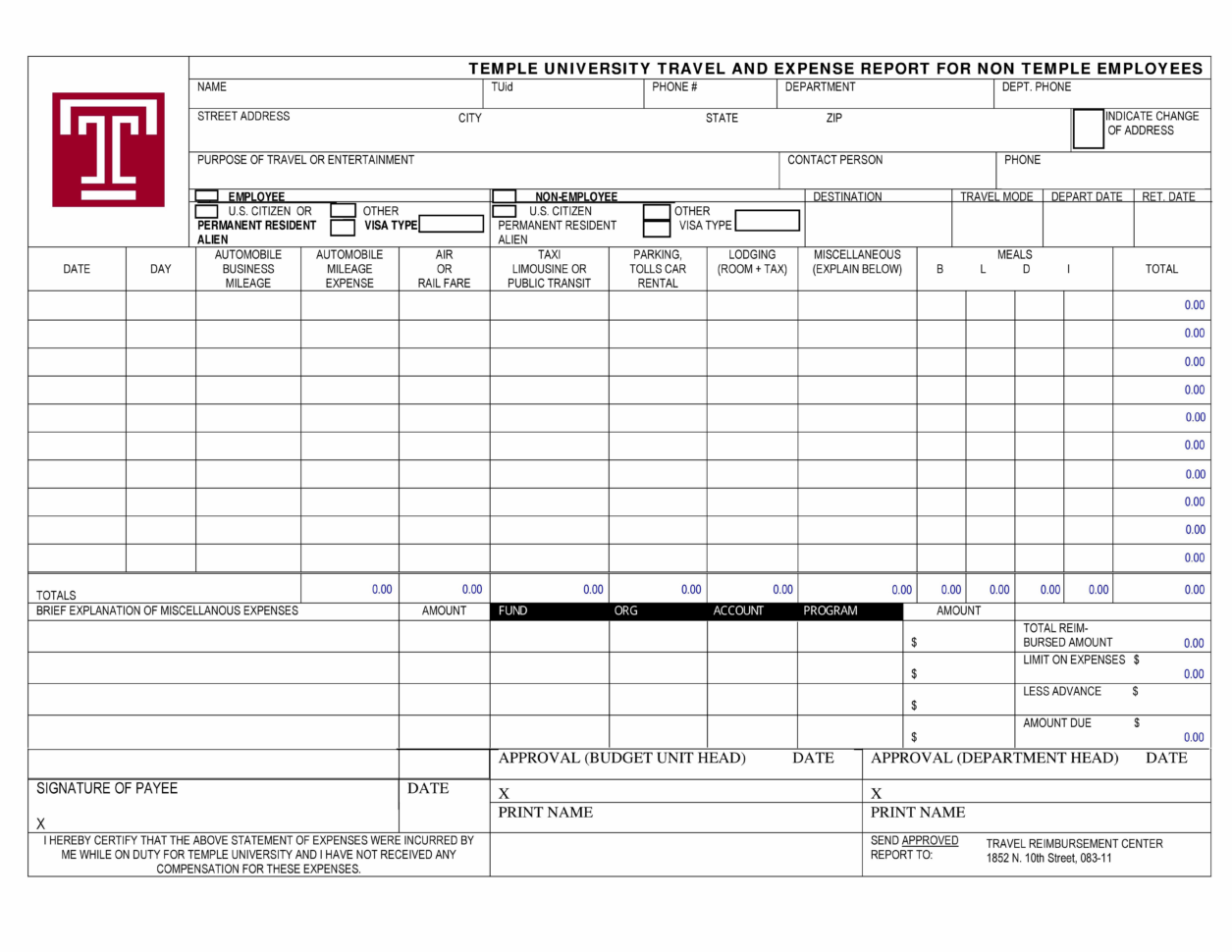 Travel Expense Report Template Excel Small Business Fresh ...
