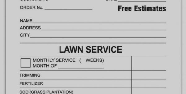Trend Of Lawn Care Invoice Template Free Landscaping Service Excel For Landscaping Invoice Template